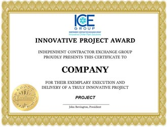 Innovative Project Awards Mockup Certificate 2019
